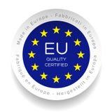 Eu Quality Certified logo Royalty Free Stock Photo