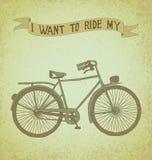 Eu quero montar minha bicicleta Imagem de Stock