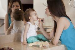 Eu quero olhar bonito como a mamã Imagem de Stock