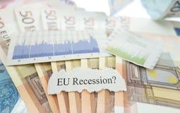 EU recession news Stock Photo