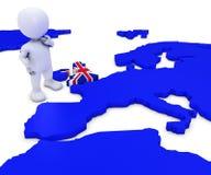EU Referendum Man. 3D Render of EU Referendum Man Stock Image