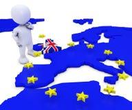 EU Referendum Man Stock Photography