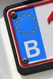 EU registration plate - B Royalty Free Stock Photo