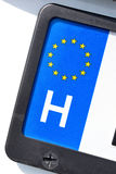 EU registration plate - H. Country identifier of EU car registration plate: Hungary Royalty Free Stock Photo