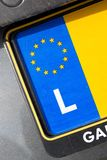 EU registration plate - L Royalty Free Stock Photo