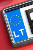 EU registration plate - LT Stock Photos