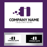 Eu rotulo Logo Design Vetora Business Card Fotos de Stock Royalty Free