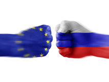 Eu x russia Royalty Free Stock Images