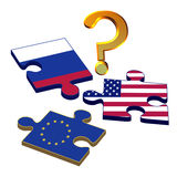 EU Russia USA Royalty Free Stock Photography