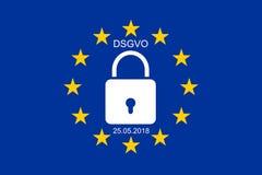 EUÂS ny reglering för skydd för allmänna data Royaltyfria Foton