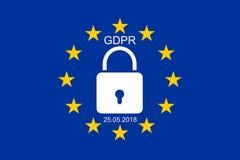 EUÂS ny reglering för skydd för allmänna data Fotografering för Bildbyråer