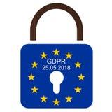 EUÂS ny reglering för skydd för allmänna data Royaltyfri Fotografi