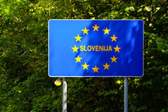 EU signs series - Slovenia, photo realistic, Stock Images