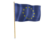 EU silk flag Stock Image