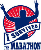 Eu sobrevivi ao corredor de maratona Imagens de Stock