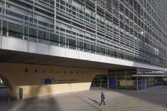 EU som bygger Berlaymont Bryssel Arkivbild