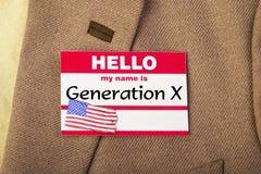 Eu sou geração X Imagem de Stock Royalty Free