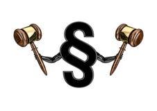 Eu sou a lei Imagem de Stock