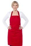 Eu sou o cozinheiro chefe novo aqui Imagens de Stock