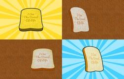 Eu sou o pão da ilustração do fundo da vida Fotos de Stock
