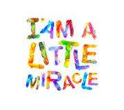 Eu ` sou um milagre pequeno Vetor ilustração royalty free