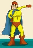 Eu sou um super-herói ilustração stock
