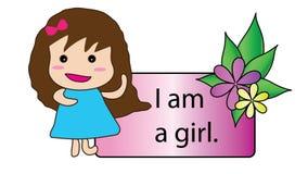 Eu sou uma menina Fotos de Stock Royalty Free