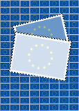 EU stamps with copy space Royalty Free Stock Image