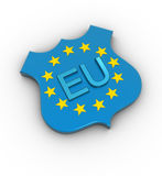 Eu star and text Royalty Free Stock Image