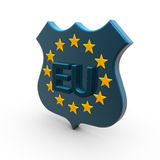 Eu star and text Stock Photography