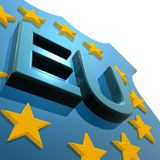 Eu star and text Stock Images