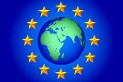 EU stars and globe Royalty Free Stock Photo