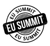 Eu Summit rubber stamp Royalty Free Stock Photos