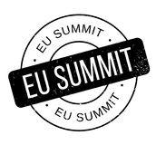 Eu Summit rubber stamp Stock Photo