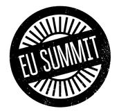 Eu Summit rubber stamp Royalty Free Stock Images