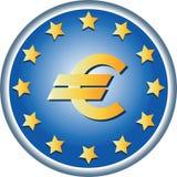 EU symbols. Round emblem. Stock Photo