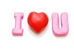 Eu te amo (único) Imagem de Stock Royalty Free