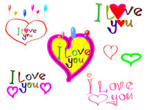 ?Eu te amo? Fotografia de Stock