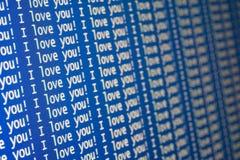 Eu te amo! Imagem de Stock