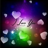 Eu te amo, cartão colorido Foto de Stock