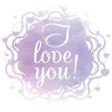 Eu te amo! Cartão do dia de Valentim Fotos de Stock