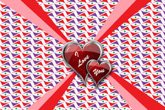Eu te amo corações no pacote Imagens de Stock Royalty Free