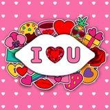 Eu te amo Crad Imagem de Stock