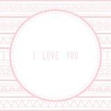 Eu te amo cumprimentando card1 Imagens de Stock