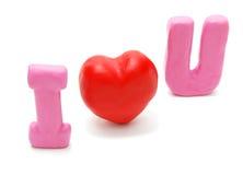 Eu te amo (diagonal) Fotos de Stock Royalty Free