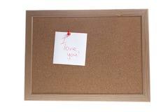 Eu te amo escrito à mão na placa Fotografia de Stock