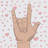 Eu te amo ilustração do vetor do sinal da mão ilustração royalty free