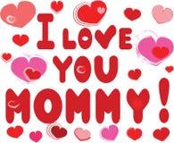 Eu te amo mamã Imagens de Stock Royalty Free