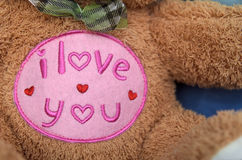 Eu te amo Teddy Bear Fotografia de Stock Royalty Free