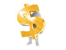 Eu tenho o dólar. Fotos de Stock
